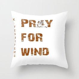 Kitesurfers Pray for Wind Throw Pillow