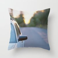 subaru Throw Pillows featuring Sunrise by MICHAEL