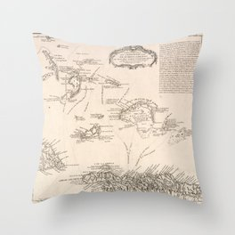 Vintage Map of The Turks and Caicos (1782) Throw Pillow