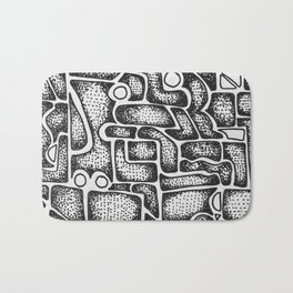 Abstract Aztec Bath Mat