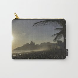 Sunset at Ipanema Beach with Pam Trees Carry-All Pouch