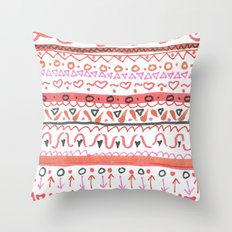 Red Design Throw Pillow