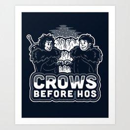 Crows Before Hos Art Print