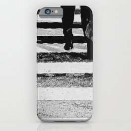 Abstract city streets in black and white iPhone Case