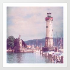 Lighthouse at Lindau, Lake of Constance Art Print