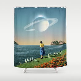 Watching Planets Shower Curtain