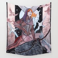 sister Wall Tapestries featuring Sister Nightingale by Weissidian