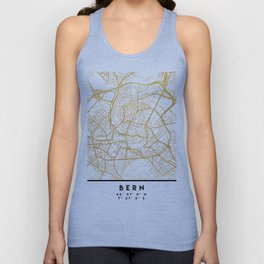 BERN SWITZERLAND CITY STREET MAP ART Unisex Tank Top