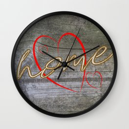 Home with a Heart Wall Clock