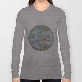 Marble in shades of blue and gold Long Sleeve T-shirt