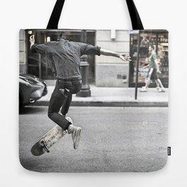 Mid-Air Skater Tote Bag