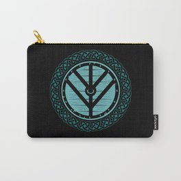 Viking Shield Maiden Norse Knot Work & Teal Shield Carry-All Pouch