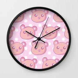 Teddies and Polka Dots Wall Clock