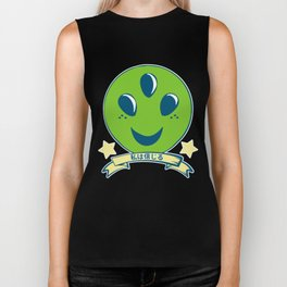 I Want to Believe // Aliens // UFO // Pastel Biker Tank