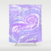 psych Shower Curtains featuring Psych Tentacle by Vee D Alexx