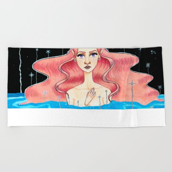 Lagoon of whises Beach Towel