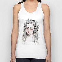 china Tank Tops featuring China Girl by Giulia Colombo