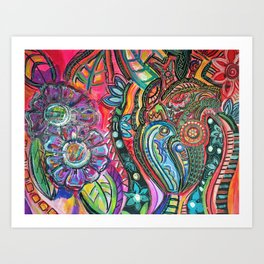 I'll get up and fly away Art Print