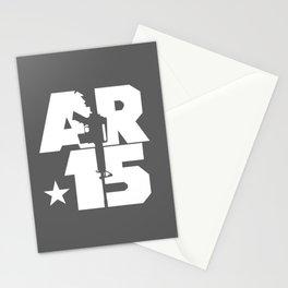 AR-15 (Gunmetal/White) Stationery Cards