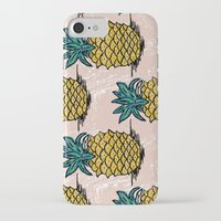 pinapple iPhone & iPod Cases featuring Large pina palatern by Jennie Ablanedo