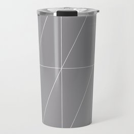 Grey Triangles by Friztin Travel Mug