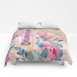 Floral Guitar Comforters