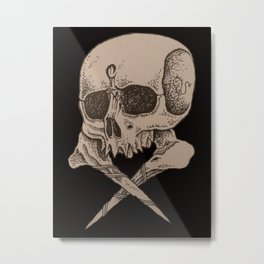 Skull and crossbones Metal Print