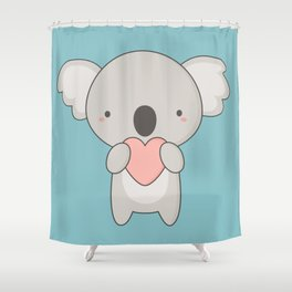 Kawaii Cute Koala Bear Shower Curtain