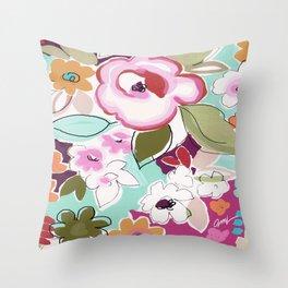 Dufy floral  Throw Pillow