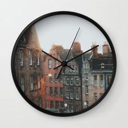 Golden Hour in Edinburgh Wall Clock