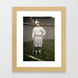 Player with the Vancouver Beavers baseball team, Vancouver, 1919 Framed Art Print