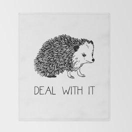 Deal With It Hedgehog Throw Blanket