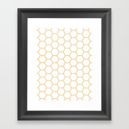 Honeycomb Orange #271 Framed Art Print