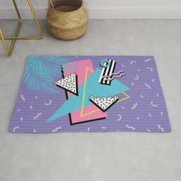 Memphis Pattern 57 - 80s - 90s Retro / 2nd year anniversary design Rug