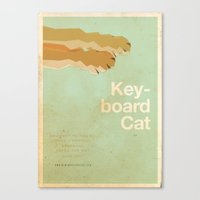 movie posters Canvas Prints featuring Keyboard Cat - Meme Movie Posters by Stefan van Zoggel