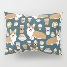Corgi Coffee print corgi coffee pillow corgi iphone case corgi dog design corgi pattern Pillow Sham