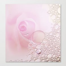 Rose and waterdrops Canvas Print