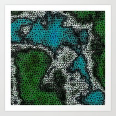 Mapped Art Print