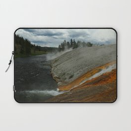 Thermal Geyser Runoff Into Firehole River Laptop Sleeve