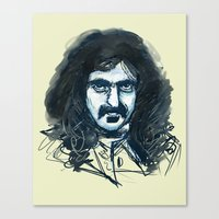 zappa Canvas Prints featuring Zappa by Katie Bumdesu Whittle