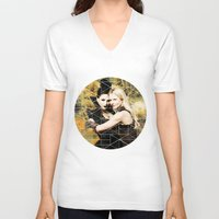 swan queen V-neck T-shirts featuring Swan Queen II by Geek World