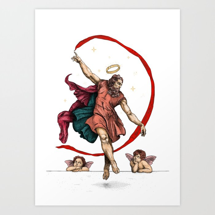 The dance of eternity Art Print