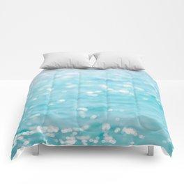 Rippling Sparkling Blue Ocean Photo Comforters