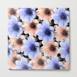 At Peace in My Garden: Floral Pattern Metal Print