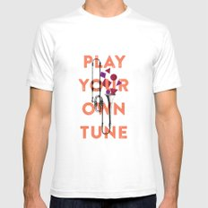 Play you own tune Mens Fitted Tee SMALL White