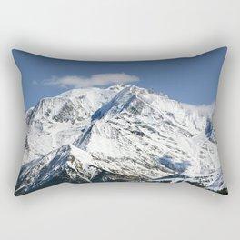 Mt. Blanc with clouds Rectangular Pillow