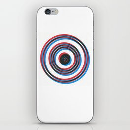 overlapping waves iPhone Skin