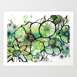 Lime Bouquet Art Print
