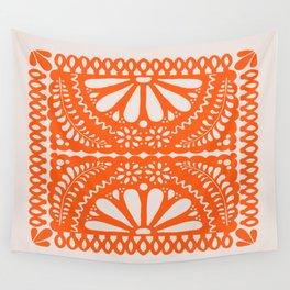 Fiesta de Flores Orange Wall Tapestry