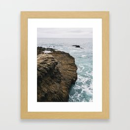 Sequit Point and the Pacific, California Framed Art Print
